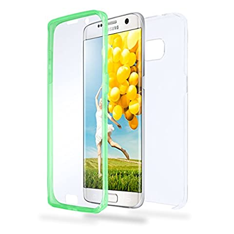 Samsung Galaxy S7 Edge Hülle Silikon Transparent [OneFlow 360 Grad Touch Cover] Dünne Schutzhülle Grün Handyhülle für Samsung Galaxy S7 Edge Case Ultra-Slim Silikonhülle