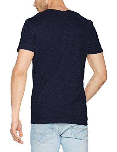 ESPRIT Herren T-Shirt 067ee2k002 Blau (Navy 400)