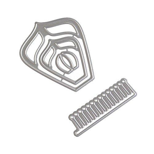 OIKAY Stanzschablone Prägeschablonen Embossing Machine Scrapbooking Schablonen Stanzformen auf Sizzix Big Shot/Cuttlebug/und andere Stanzmaschine anwenden 0130@062