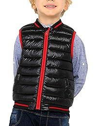 Liangzhu Chaquetas De Plumón Infantil Niños Niñas De La Cremallera Sin Mangas del Chaleco De Abrigo