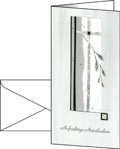 """Sigel DS204 Trauer-Karten """"Requiem"""", inkl. Briefumschläge, DIN lang, 10 Stück"""