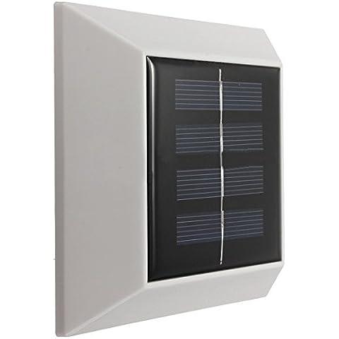 Goliton Lampada di pannello solare ha condotto il sensore di 4 LED impermeabile montato recinzione esterna del giardino Pathway lampada da parete di