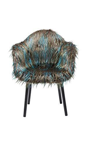Kare Design Chaise avec accoudoirs Yeti Fur Vert foncé