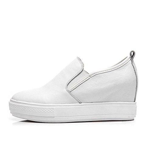 Sommer Frühling Damen Dicke Sohle Lässige Stil Runde Zehen Aufzug Sneakers  Lässige Dicke Sohle Plateau Slip