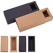 BENECREAT 20 Pack Caja de Cartón Kraft Cajas de Regalo para Fiesta Superior Envase de Joyería