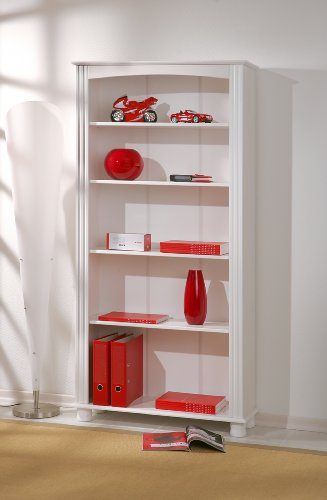 Links-Anna-6-Libreria-Legno-massello-sbiancato-87-x-180-x-30-cm
