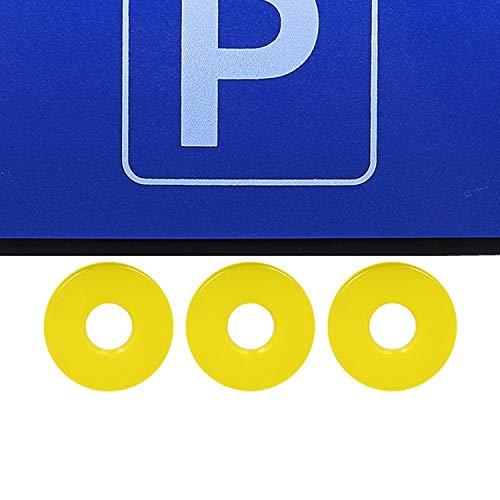 02 Pezzi - Disco di parcheggio con Chip Bordo in Gomma COM-FOUR/® 2 Dischi di parcheggio con Raschietto per Ghiaccio Disco di parcheggio e Chip del Carrello