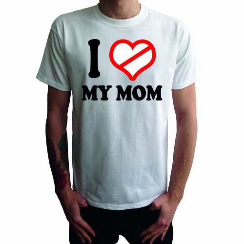 I don't love My Mom Herren T-Shirt Weiß