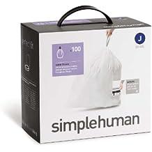 simplehuman H–Bolsas de basura (100), código J, 30–40Litros, CW0238