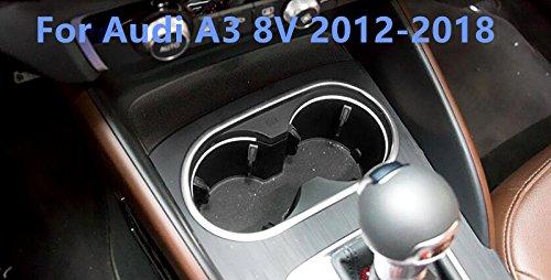 Per A3 8V 2012-2018 Portabicchieri con Interno in acciaio inox, cornice di finitura, 1 pezzo