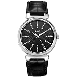Limit Women's Quartz Watch with Black Dial Analogue Display and Black PU Strap 6936.01