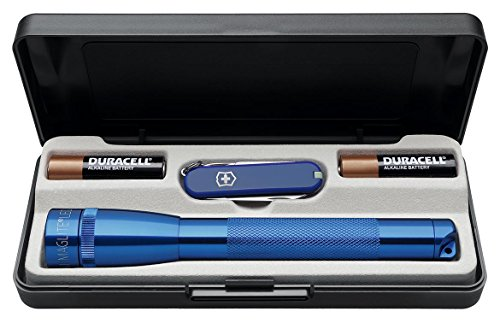 maglite-led-mini-maglite-2aa-multimode-blue-knife-set-with-5-pieces-victorinox-swiss-knife-blue