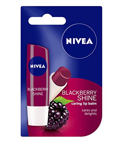 Nivea Lip Care Fruity Shine, Blackberry, 4.8g
