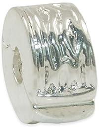 Andante-stones perle européenne à clipser en argent 925 pour bracelets à perles européennes livrée dans une pochette en organza