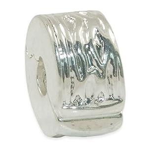 Andante-Stones Silber Bead Clip Stopper – Element Kugel für European Beads + Organzasäckchen