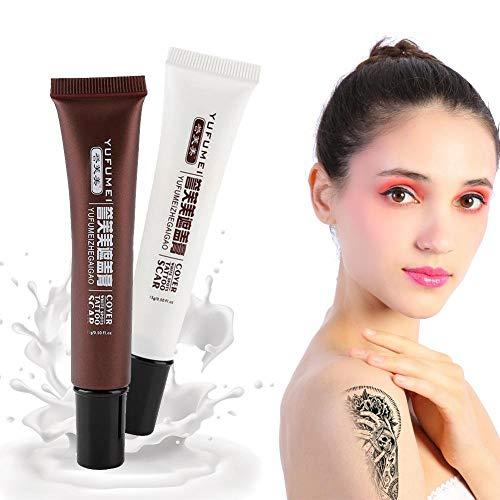 Abdeckung Creme (Concealer, professionelle Narbe Tattoo Concealer Vitiligo Versteck Flecken Birthmarks Make-up Abdeckung Creme Set)