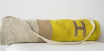 Yoga Matte Tasche–Personalisierte Yoga Warrior Yoga Taschen–Monogramm Tragetaschen Tasche–leicht Gewicht Yogamatte Sling–Rucksack Zubehör–Sport Tasche–Jute, bestickt, Geschenk für Yogis Weihnachten Geburtstag Jahrestag Einzugs