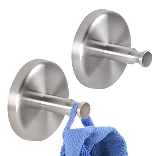 Preisvergleich Produktbild bremermann® Bad-Serie PIAZZA - Handtuchhaken 2er-Set aus mattem Edelstahl