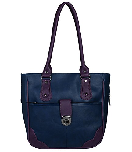 Fantosy Women Blue And Purple Lock Model Handbag Fnb-677