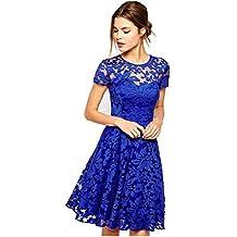 47c03ba1d16f Ovender® Vestiti Eleganti Corti Mini da Donna Ragazza Abito Vestito Donne  Ragazze Impero Formale Elegante