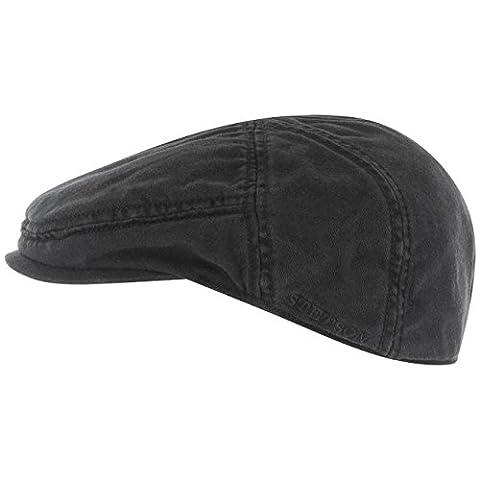 Stetson Paradise Flatcap Schirmmütze aus Baumwolle - schwarz S/54-55 (Schildmützen Herren)