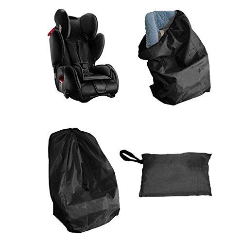 iKulilky Kindersitz Transporttasche Gate Check Kinderautositze Reisetasche für Kinderwagen Autokindersitze Rollstühle Wasserabweisend für Flugzeug und Aufbewahrung (Schwarz)