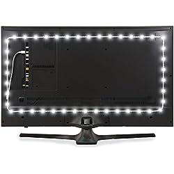 Illuminazione Bilanciata Luminoodle per HDTV - Media - Illuminazione a LED alimentata da connettore USB Bianco Brillante per Home Theatre, TV, Monitor - Retroilluminazione a LED per TV alimentata con connettore USB