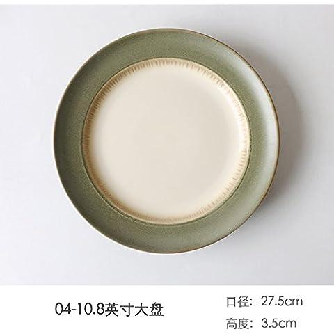 Western cappello di paglia disco ceramico deep dish drive home il riso ciotole di riso creative disco western steak piastre disco di pasta ,27,5*3.5cm, piatto
