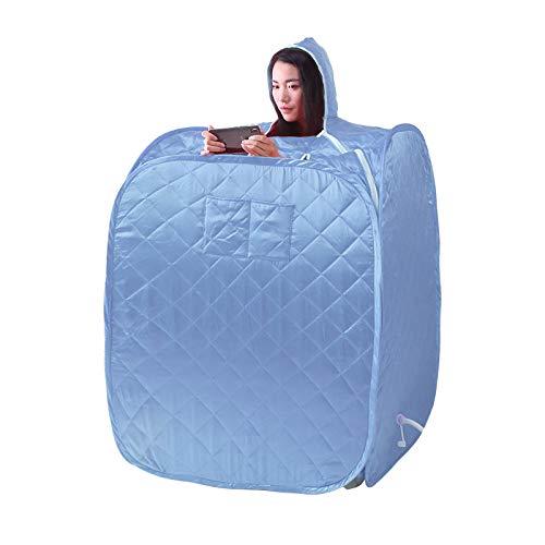 YXLONG Infrarot Sauna Tragbare Umweltschutz Fernbedienung Faltbar Zuhause Dampfsauna Entgiftung,Blue-Single