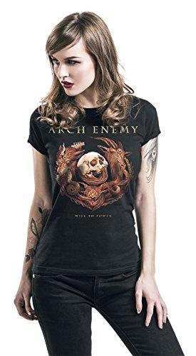 Arch Enemy Will to Power Girl-Shirt Schwarz Schwarz