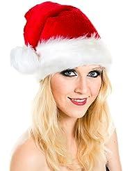 Weihnachtsmütze Mütze Weihnachten Weich Nikolausmütze Dicker Fellrand aus Plüsch Top Qualität Neue Qualität 2014 W100