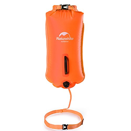Naturehike 28L Double-balloon Snorkelling Inflatable Bag Swimming Dry Bag Waterproof Beach Bag(Orange)