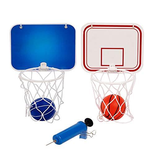 Zebroau Mini-Basketball-Spiel, Basketballkorb für Kinder, Befestigung an der Wand mit Saugnapf und Ball, für Kinder, die Bildung und Basketball (zufällige Farbe)