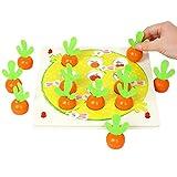 Glory.D Baby Memory Schachspiel Radish Shaped Eltern-Kind-Interaktion Tischspiele Pädagogisches Gedächtnistraining Toy Looking Chart Brettspiel Desktop-Spiel für Kinder Kinder