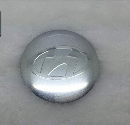 jinyuyuanshangmao 4PCS 56mm Car Wheel Centre Hub Caps Adesivo Curvo Emblem per Hyundai Silver