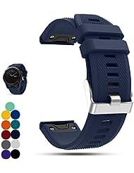 Garmin Fenix 2Multisport GPS Watch Replacement Strap, Ifeeker Soft Silicone Quick Install Wrist Watch Strap for Garmin Fenix 2Multisport GPS Watch