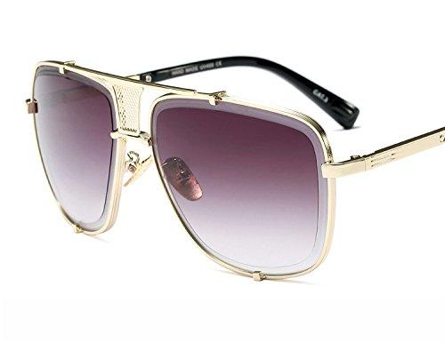 Bmeigo Gafas de Sol Hombre Retro Moda Lentes Unisex Aviador Gradient Protección UV Gafas