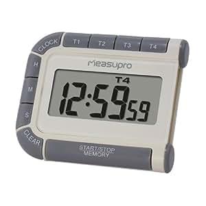 measupro cct400 elektronischer timer eieruhren uhr und stoppuhr mit vier kan len. Black Bedroom Furniture Sets. Home Design Ideas