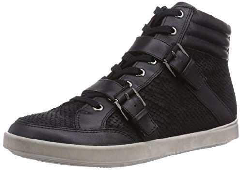 Ecco Aimee Black/Black Feather/Clodin Damen Hohe Sneakers