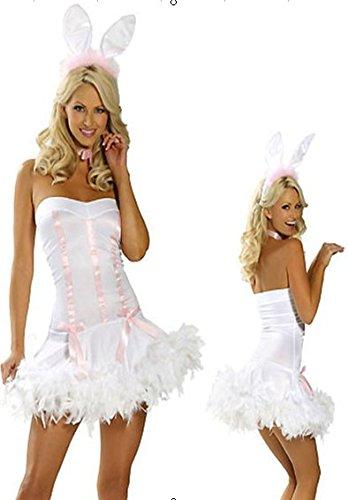 s- Kleid Häschenohren Schwanz sexy Uniformversuchung Rolle spielen suit ()