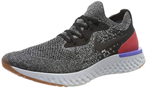 Nike Epic React Flyknit, Scarpe da Running Uomo, Nero Black-White-Red Orbit 006, 47 1/3 EU