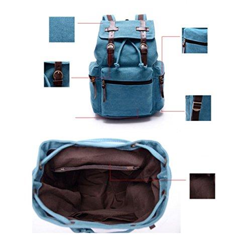 LAIDAYE Retro Männer Und Frauen Rucksack Business Freizeit Mehrzweck- Reiserucksack Blue