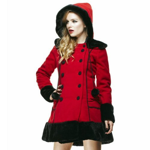 Hell Bunny Sarah Jane Coat (Red)