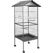 TecTake 800449 Volière pour Oiseaux Cage sur roulettes Canaries Perroquet  Perruches Canaris - diverses modèles - 67e27f85b3e1