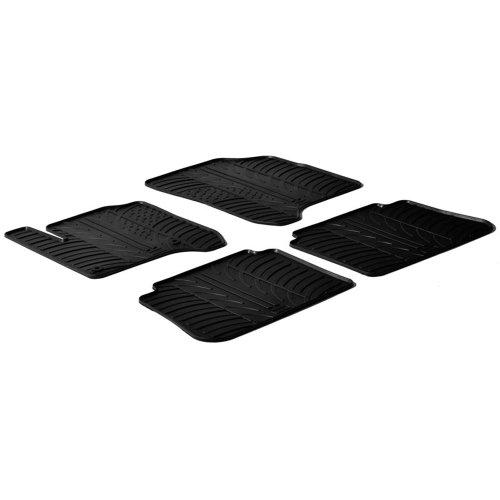 Set tapis de caoutchouc Citroen C3 Picasso 2009- (T profil 4-pièces + clips de montage)