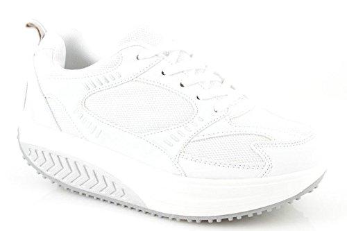 Scarpe Dimagranti Uomo Bianco 42 In Eco Pelle