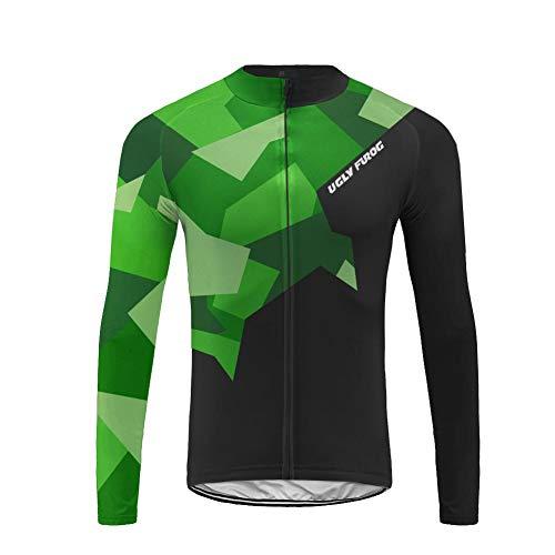 Uglyfrog 2019-2020 Funktions Autumn&Winter Fahrrad Trikot Langarm Herren Warmes with Fleece Element Jersey/Fahrradjacke/Triathlonanzug Radkleidung
