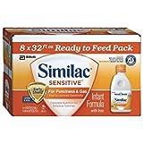 Similac Sensitive Ready to Feed Infant Formula w/Iron (32 oz., 8 pk.) by MegaDeal