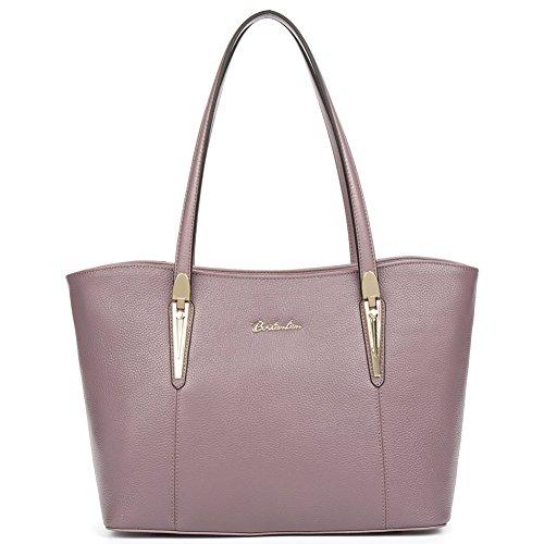 8309249f9d97f BOSTANTEN Handtaschen Damen Leder Umhängetasche Schultertasche Shopper  Tasche Lila Rosa