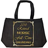 Katnovations 2018 Retired Nurse Full Time Grandma - Tote Bag With Zip